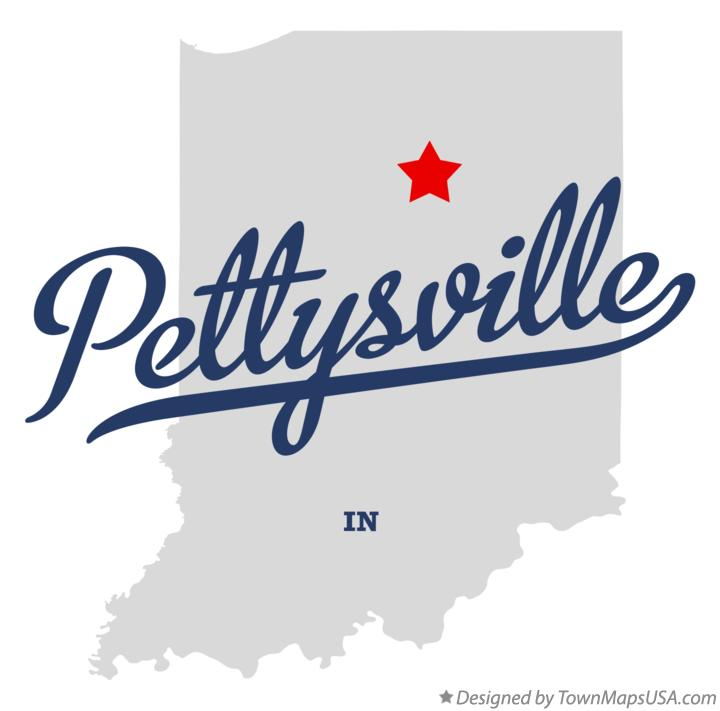 Map of Pettysville Indiana IN