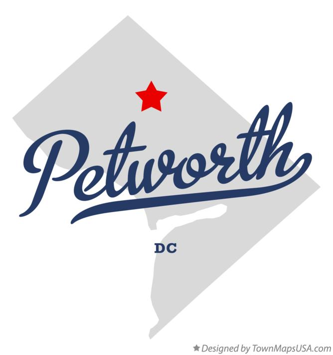 Map of Petworth District Of Columbia DC