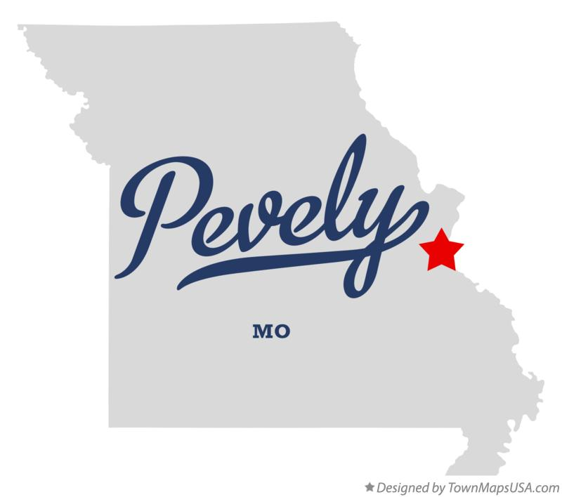 Map of Pevely Missouri MO
