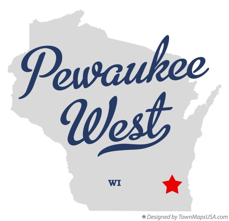 Map of Pewaukee West Wisconsin WI