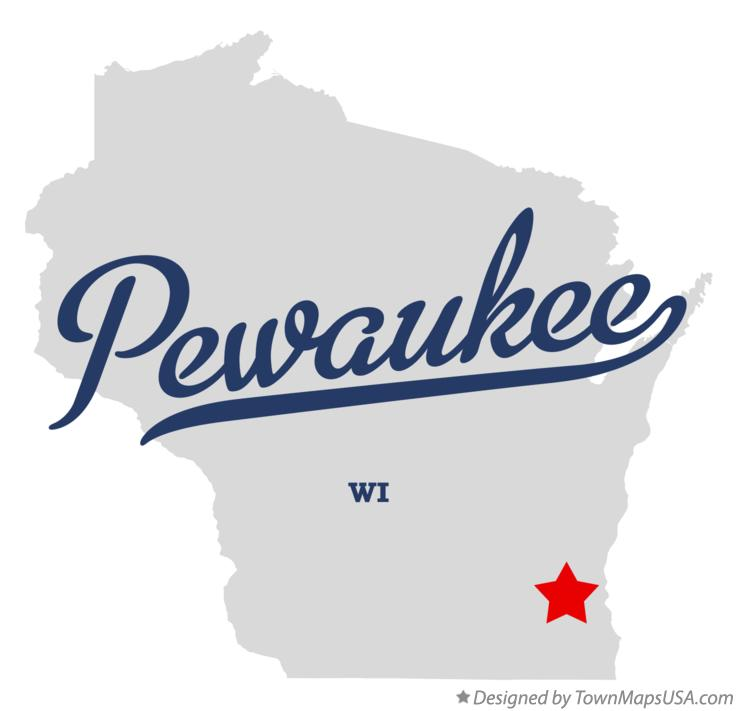 Map of Pewaukee Wisconsin WI