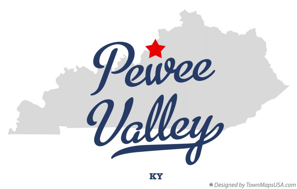 Map of Pewee Valley Kentucky KY