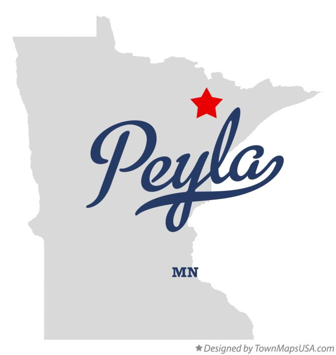 Map of Peyla Minnesota MN