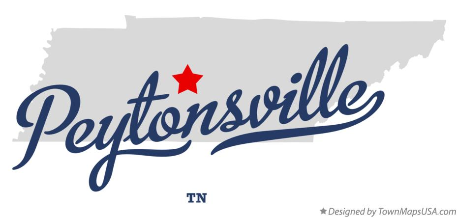 Map of Peytonsville Tennessee TN