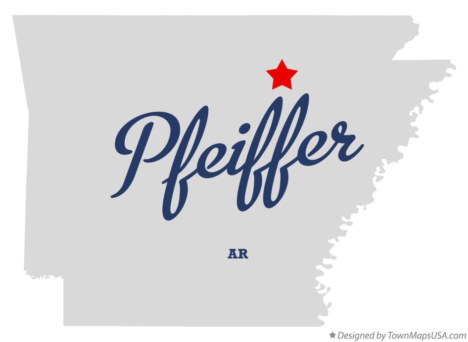 Map of Pfeiffer Arkansas AR