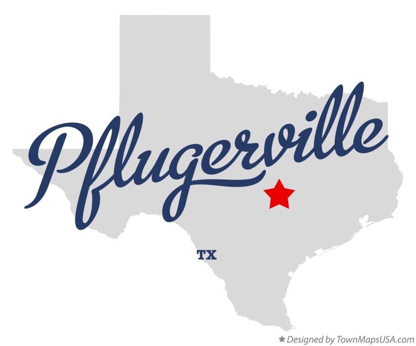 Map of Pflugerville Texas TX