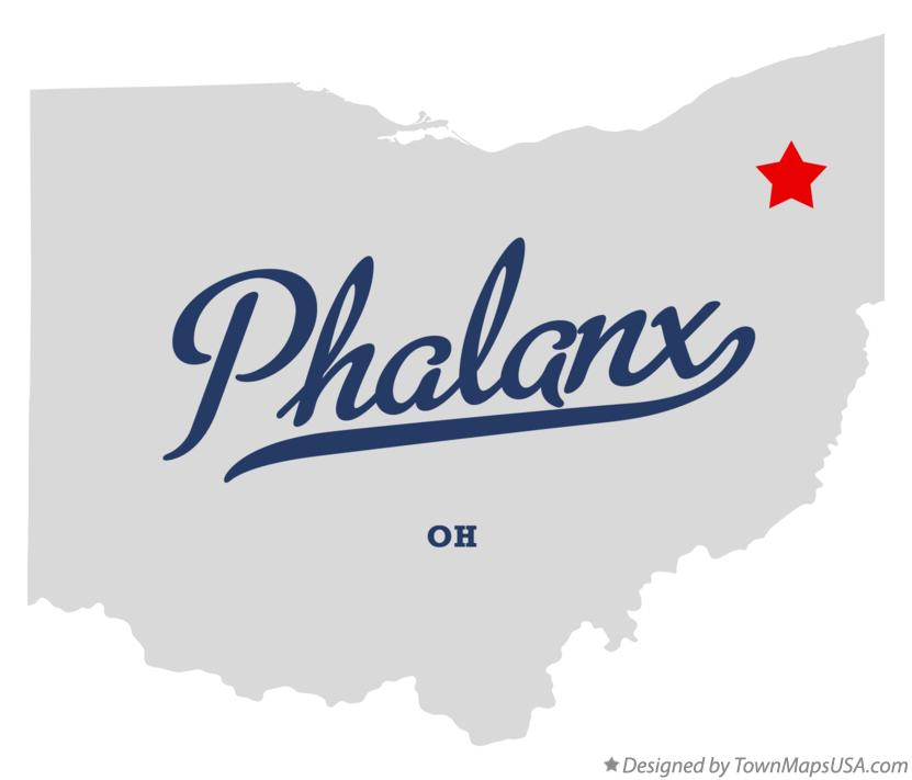 Map of Phalanx Ohio OH