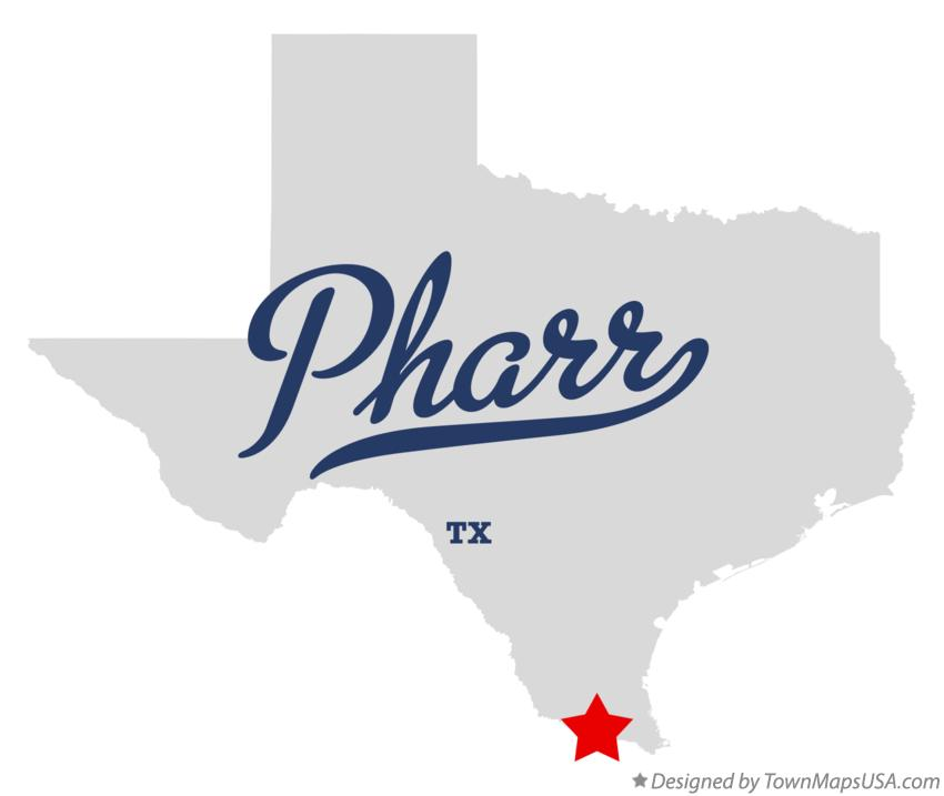 Map of Pharr Texas TX
