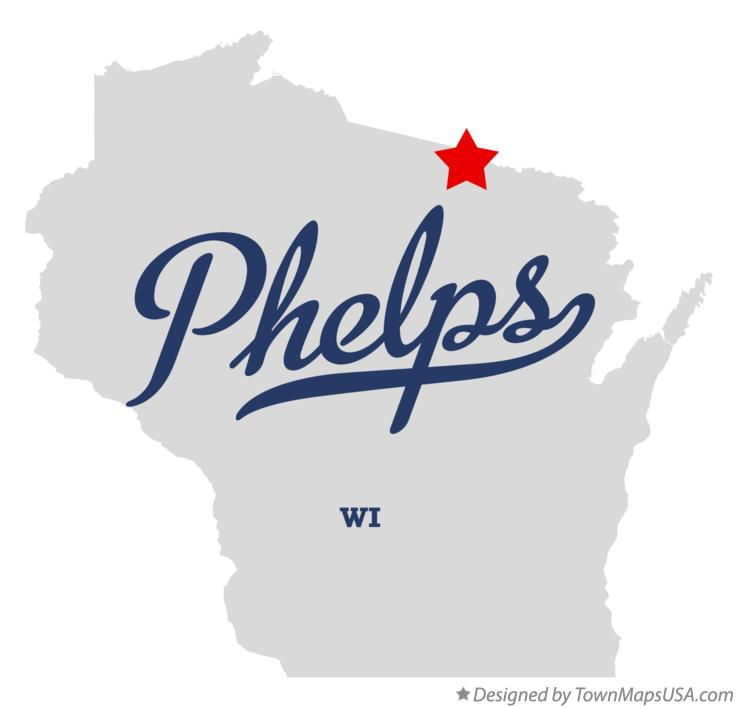 Map of Phelps Wisconsin WI