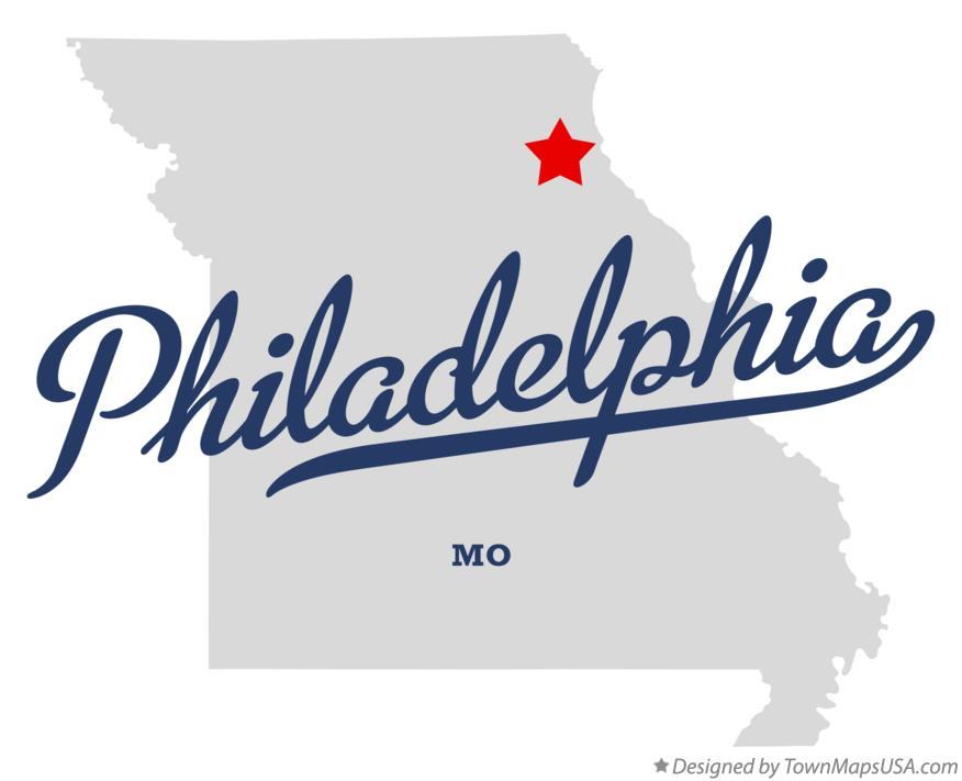 Map of Philadelphia Missouri MO