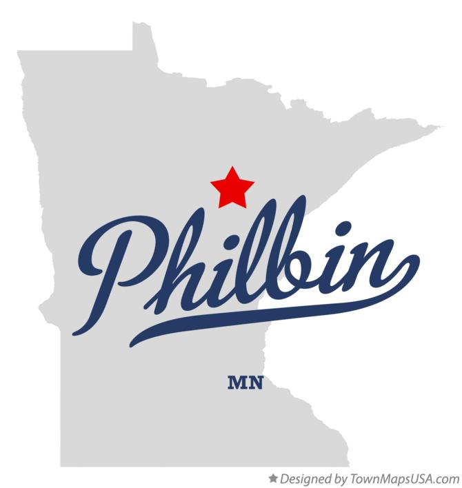 Map of Philbin Minnesota MN