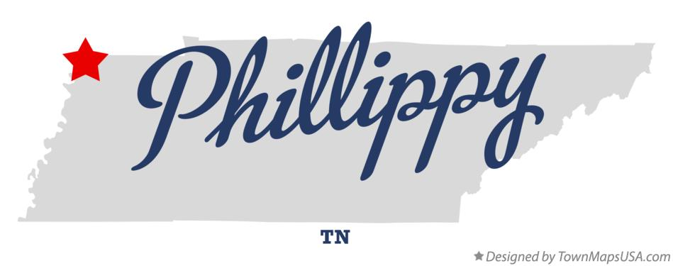 Map of Phillippy Tennessee TN