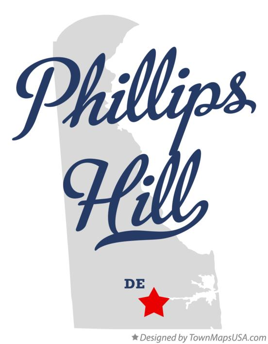 Map of Phillips Hill Delaware DE