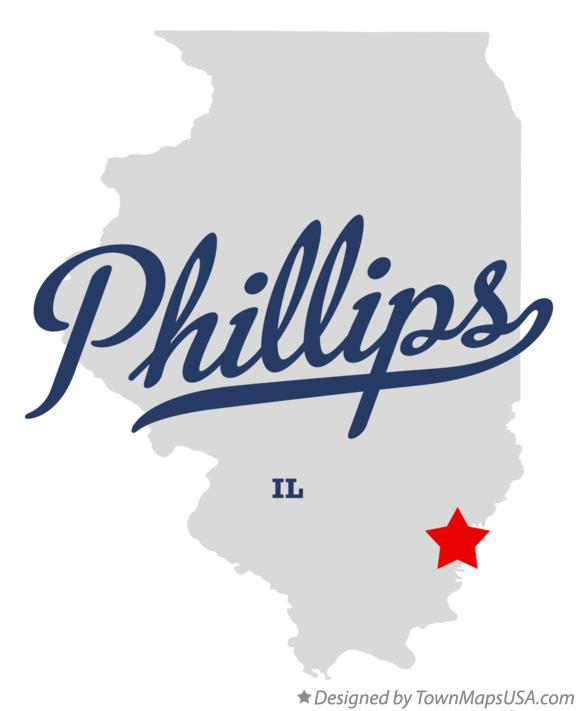 Map of Phillips Illinois IL