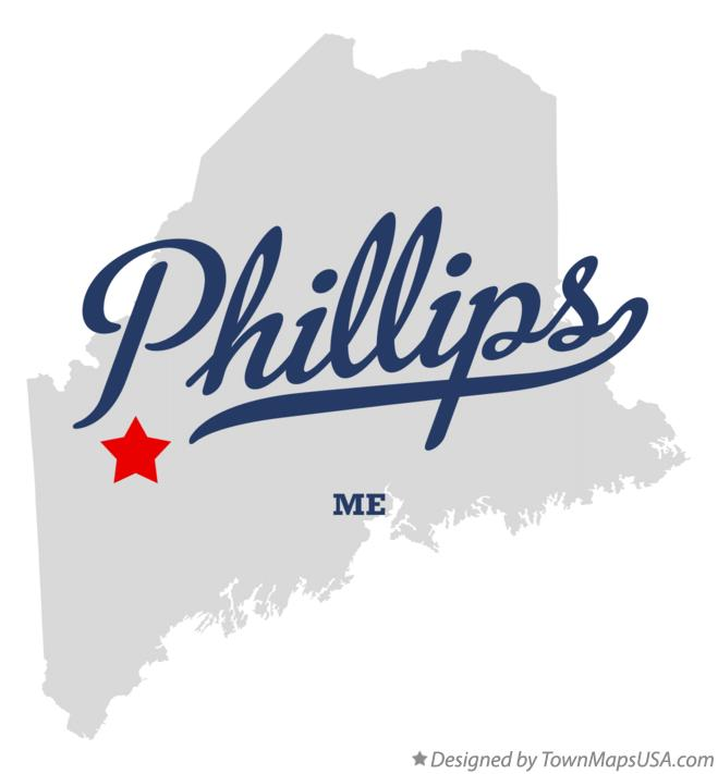 Map of Phillips Maine ME