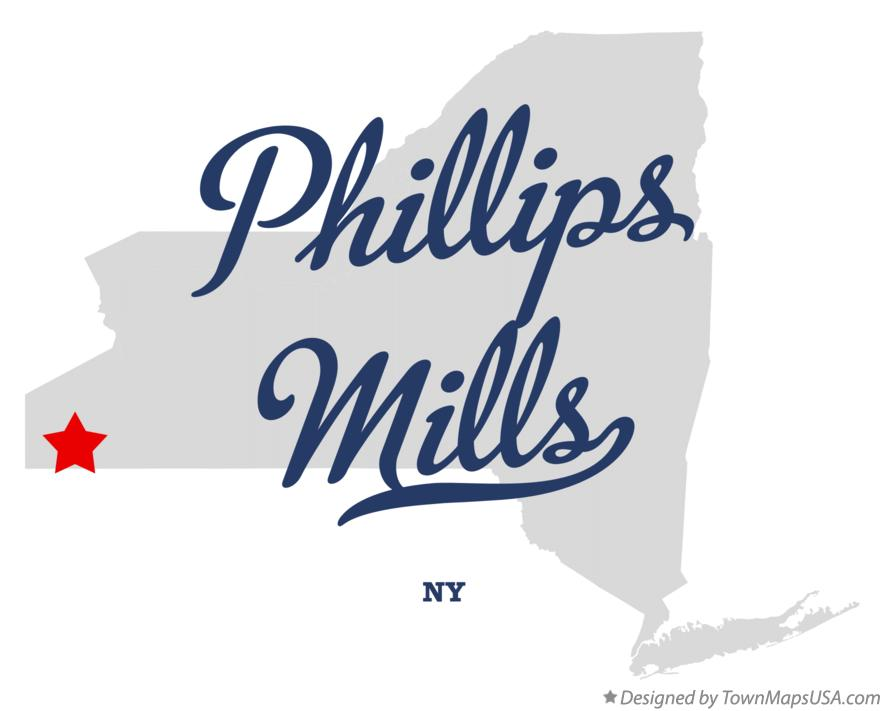 Map of Phillips Mills New York NY