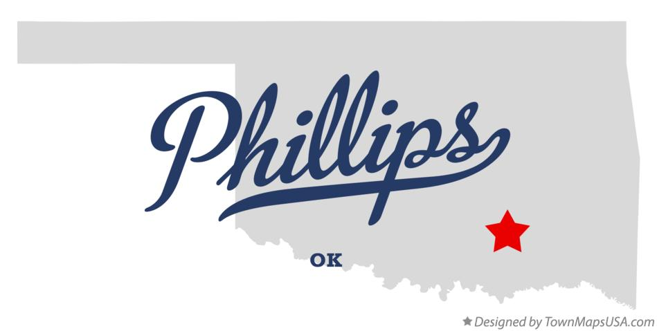 Map of Phillips Oklahoma OK