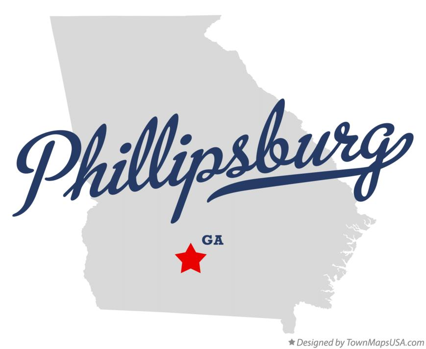 Map of Phillipsburg Georgia GA