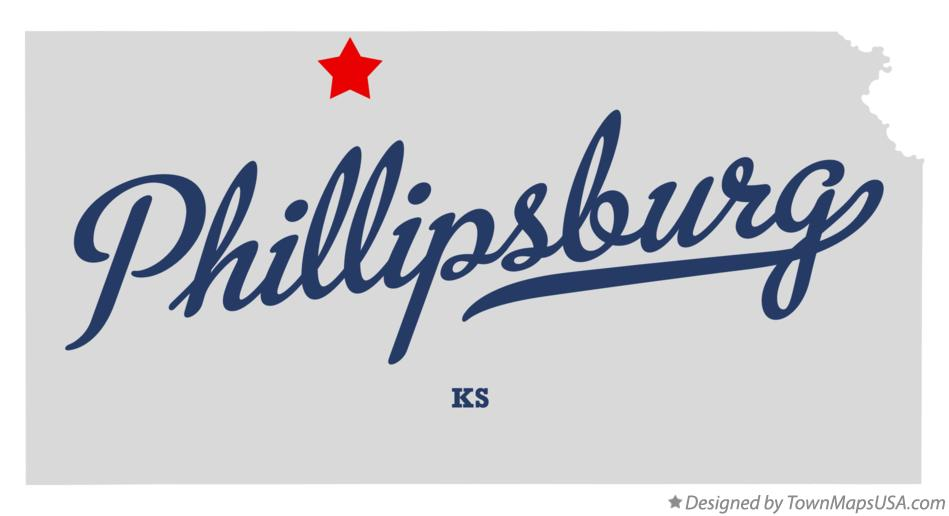 Map of Phillipsburg Kansas KS