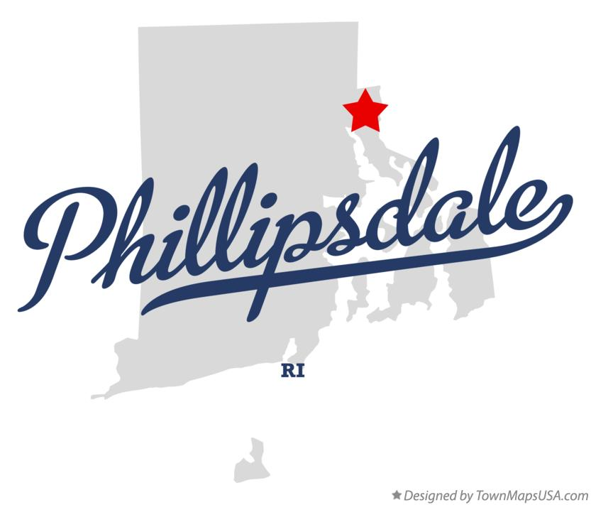 Map of Phillipsdale Rhode Island RI