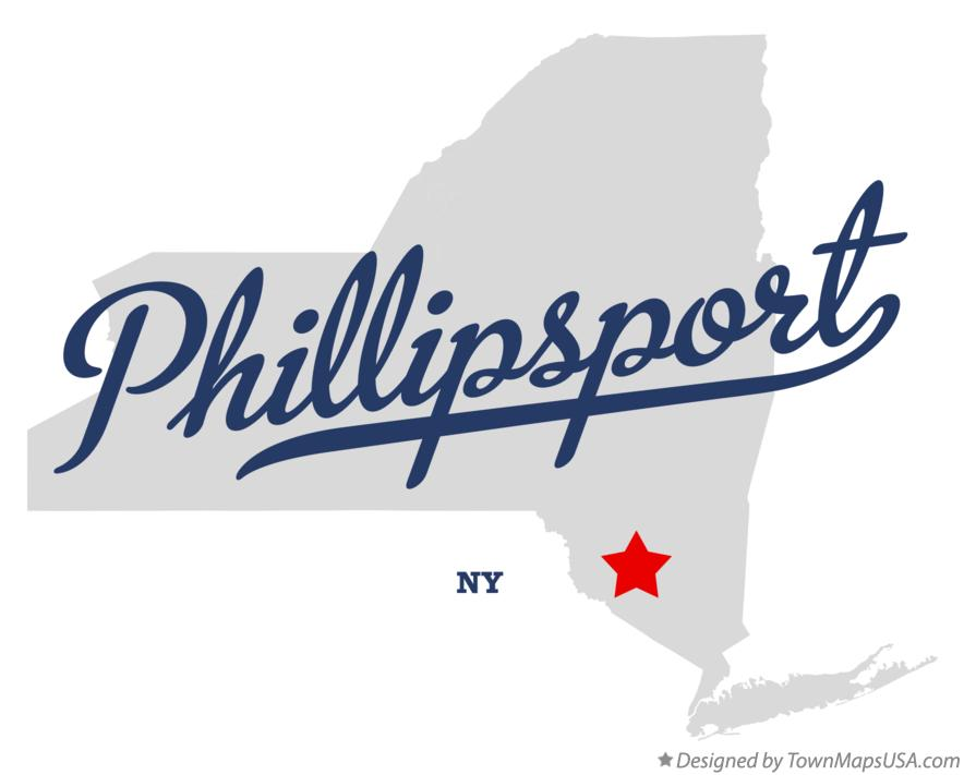 Map of Phillipsport New York NY