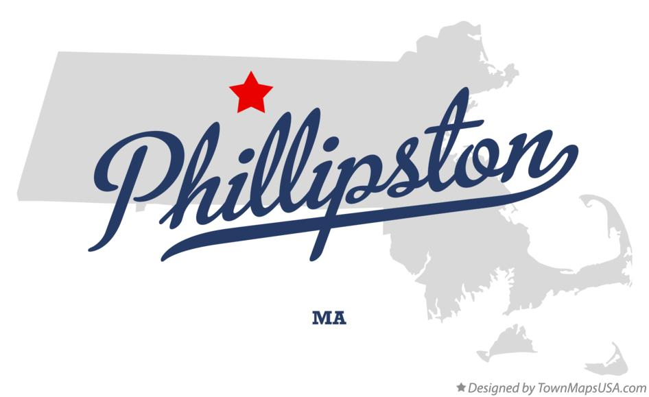 Map of Phillipston Massachusetts MA