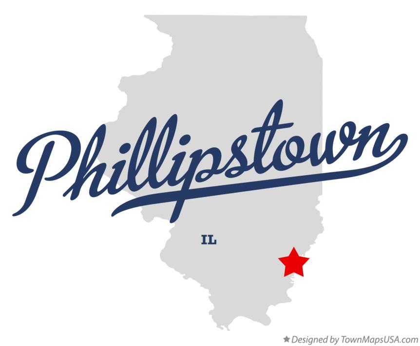 Map of Phillipstown Illinois IL