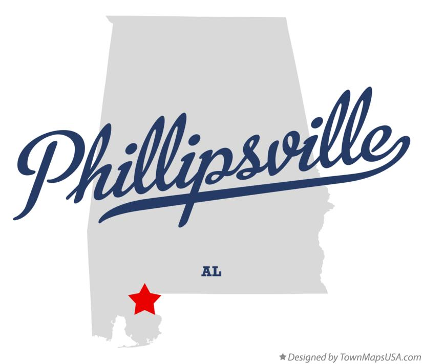 Map of Phillipsville Alabama AL
