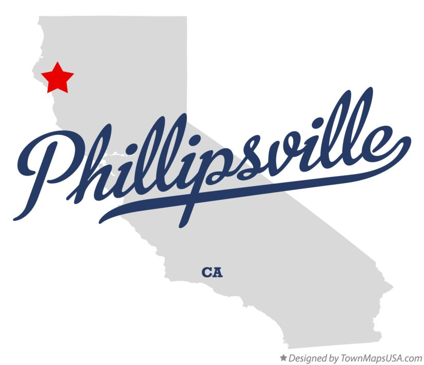 Map of Phillipsville California CA