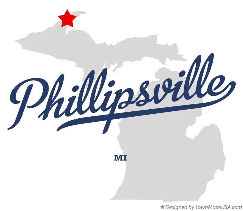 Map of Phillipsville Michigan MI
