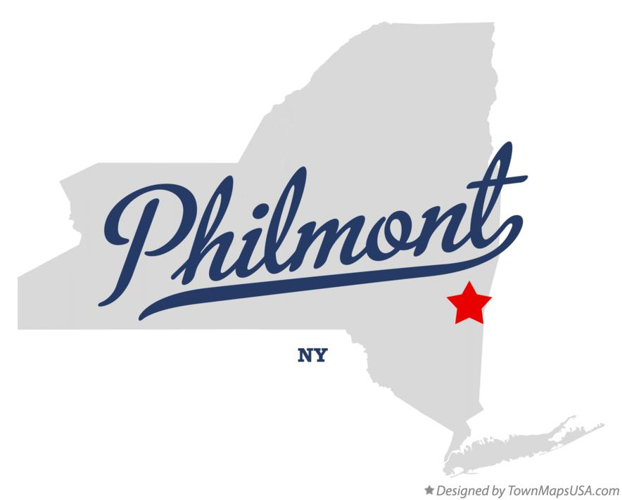 Map of Philmont New York NY