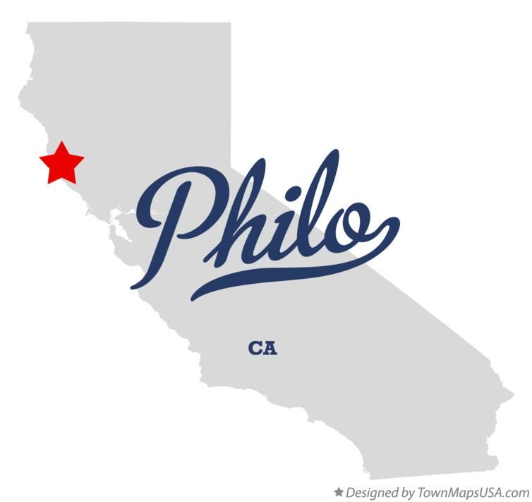 Map of Philo California CA