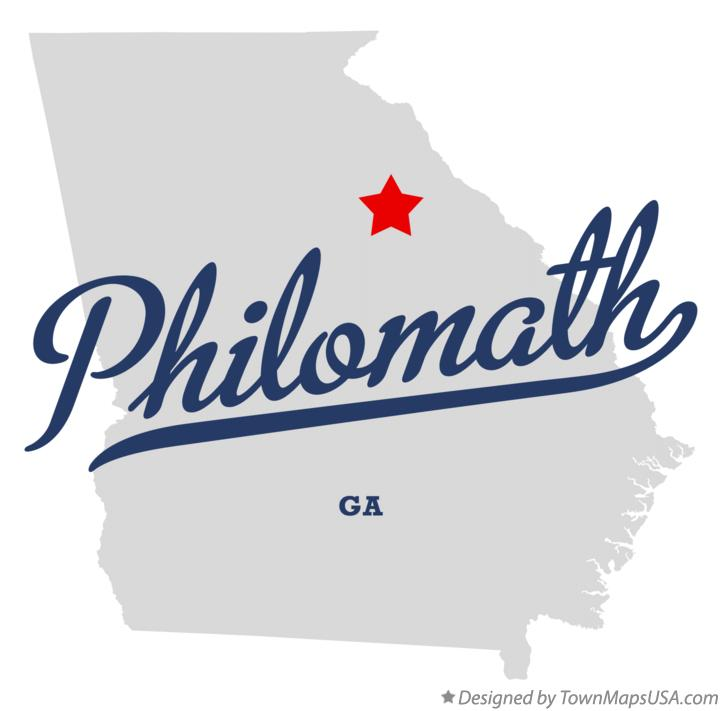 Map of Philomath Georgia GA