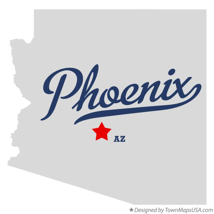 A Map Of Phoenix Arizona.Map Of Phoenix Az Arizona