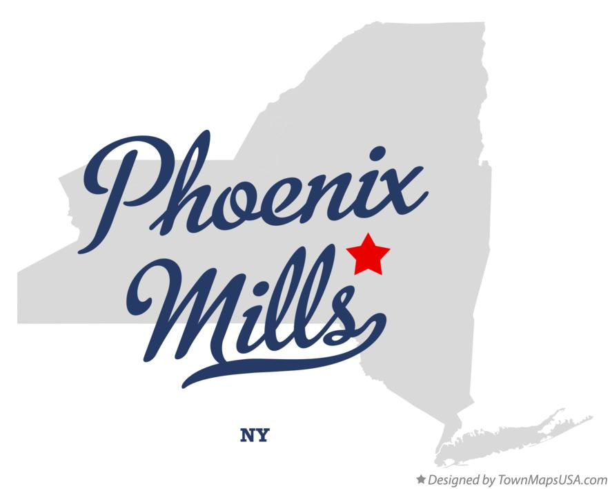 Map of Phoenix Mills New York NY