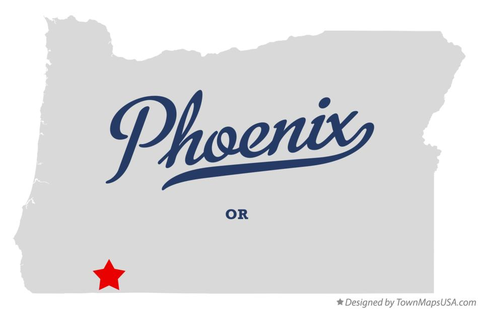 Map of Phoenix Oregon OR