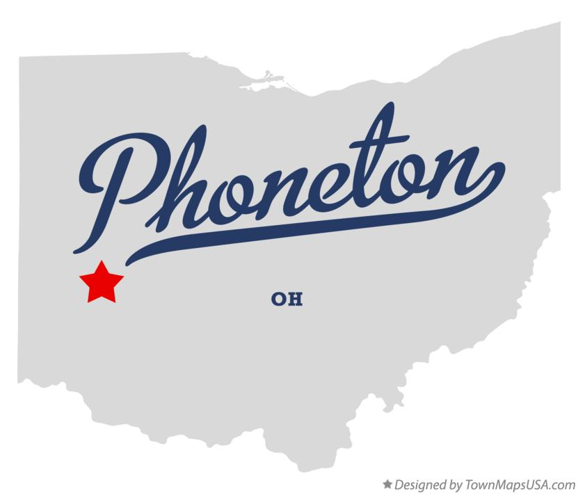 Map of Phoneton Ohio OH