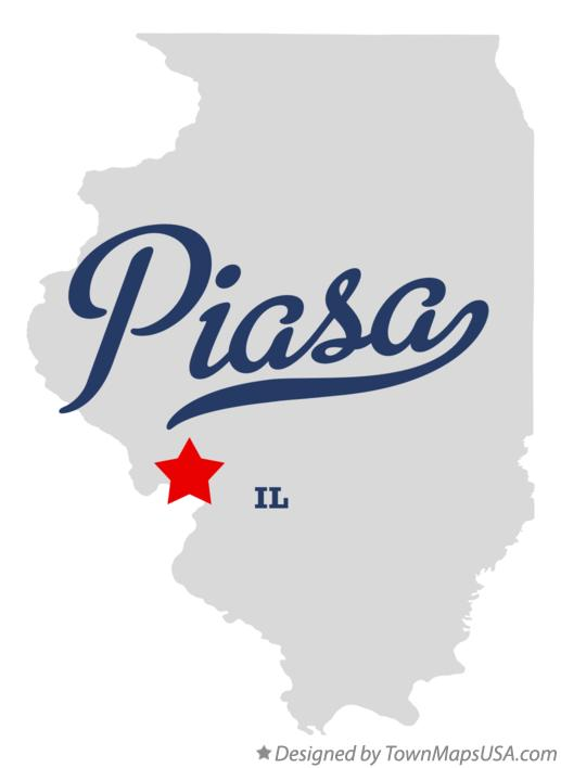 Map of Piasa Illinois IL