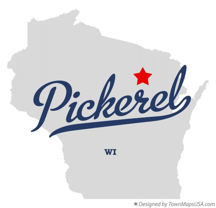 Map of Pickerel Wisconsin WI