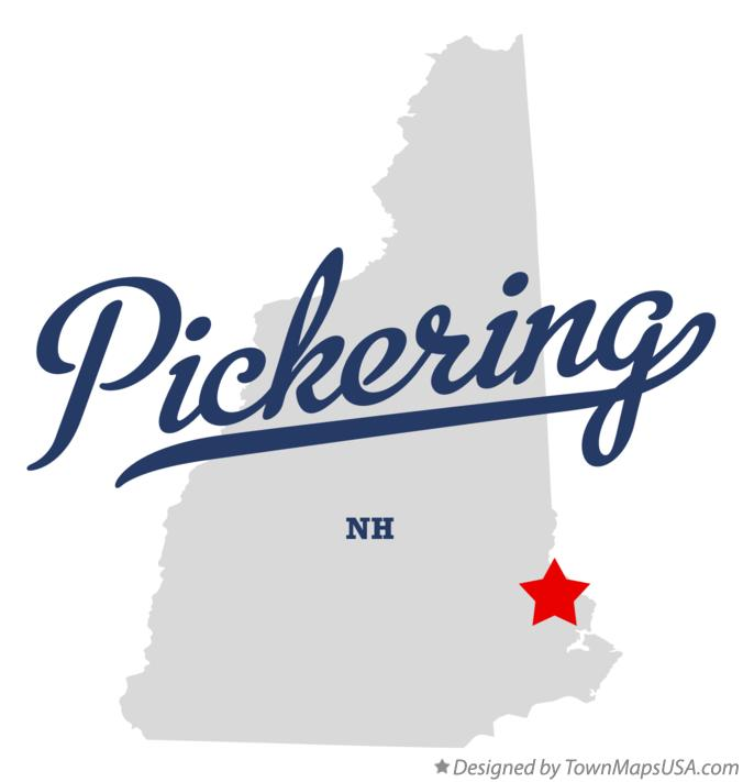 Map of Pickering New Hampshire NH