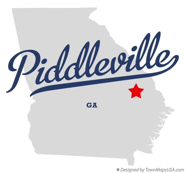 Map of Piddleville Georgia GA