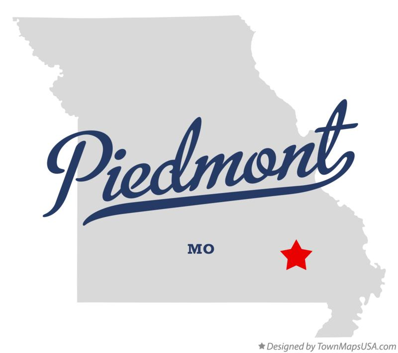 Map of Piedmont Missouri MO
