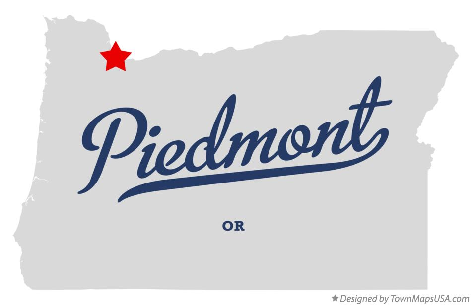 Map of Piedmont Oregon OR