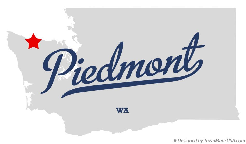 Map of Piedmont Washington WA