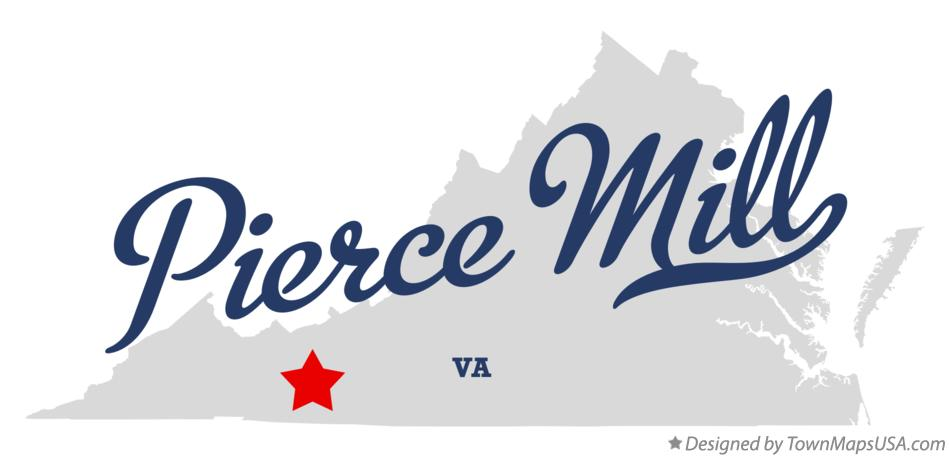 Map of Pierce Mill Virginia VA