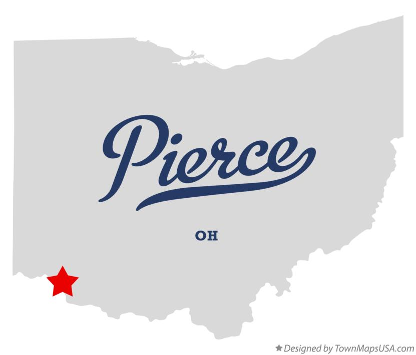 Map of Pierce Ohio OH