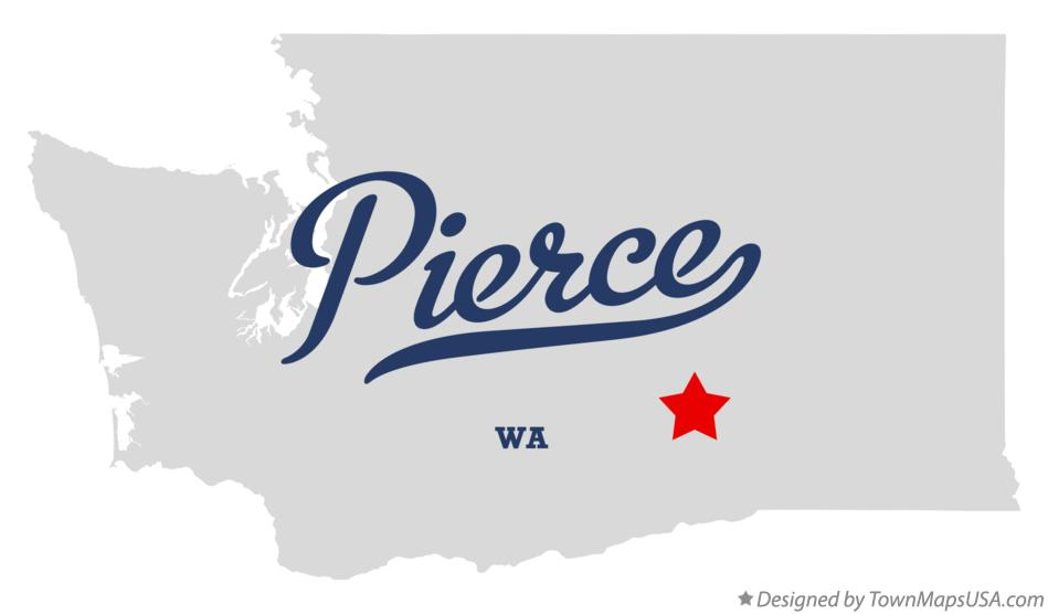 Map of Pierce Washington WA