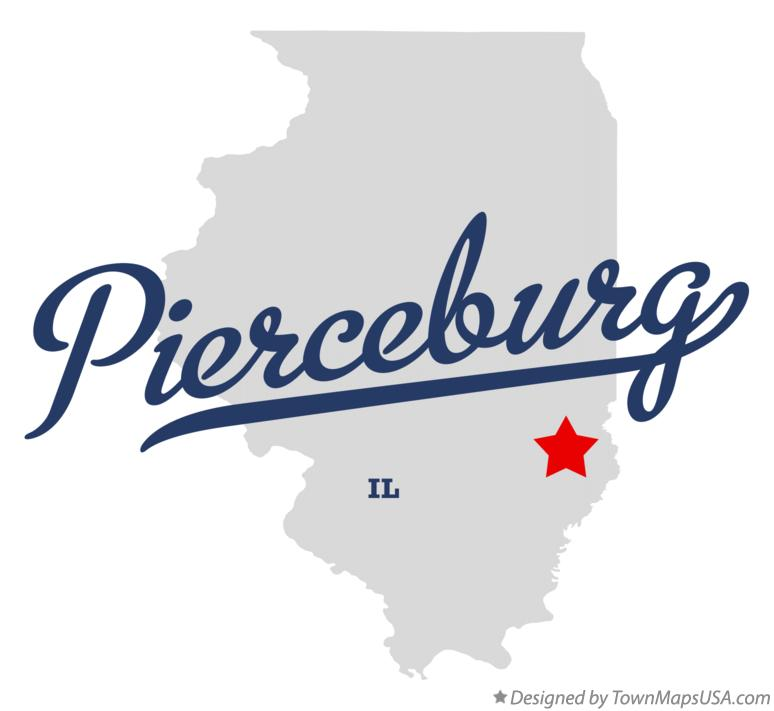 Map of Pierceburg Illinois IL