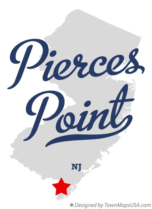 Map of Pierces Point New Jersey NJ