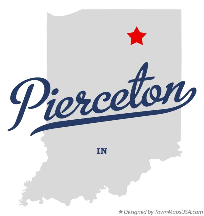 Map of Pierceton Indiana IN